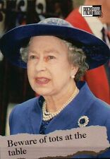 Queen Elizabeth II, Hat, Necklace --- Royal Family Trading Card, Not a Postcard