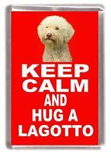 "Lagotto Dog Fridge Magnet ""KEEP CALM AND HUG A LAGOTTO"" by Starprint"