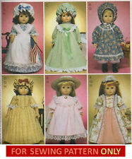 SEWING PATTERN! MAKE DOLL CLOTHES! FITS AMERICAN GIRL KIRSTEN~FELICITY~CAROLINE!