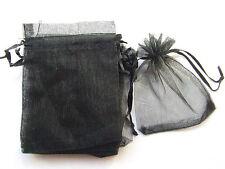 10pz sacchetti in organza colore nero 12x10cm