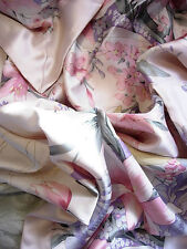 "3 pcs100% mulberry silk charmeuse Queen Duvet comforter cover set 86x86"" Lilies"