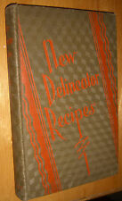 New Delineator Recipes Cookbook Vintage Old hard cover 1929