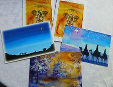 5 Weihnachtspostkarten Klappkarten Neu