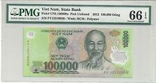 VIETNAM 100.000 DONG 2012 POLYMER PMG-66 EPQ ( #666 )
