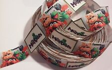 "Muppet Characters inspired 1"" Grosgrain Ribbon - By The Yard - USA Seller"