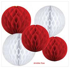 Ventiladores de papel rojo 5pk Decoraciones Colgantes Color Rojo Rubí De Boda Tema Día de San Valentín