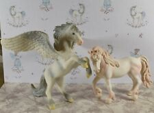 Lovely Large Schleich Plastic Pegasus & Unicorn Glittered Figures