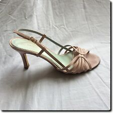 Antonio Melani Pink Leather Strap Sandals Heels Shoe 7.5