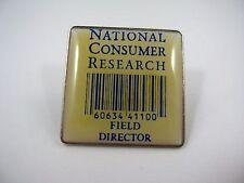 Vintage Sammlerstück Pin: National Consumer Research Feld Director