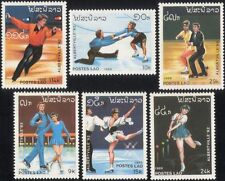 Laos 1989 Olympic Games/Olympics/Ice Skater/Figure Skating/Sports 6v set (b8453)