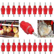 20x Chicken Water Nipple Valves Waterer Auto Drinker Feeder Poultry Duck Bird AU