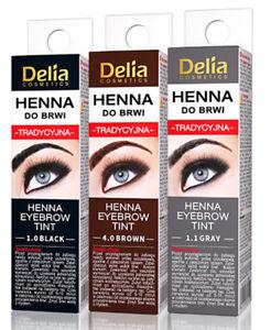 Delia Henna Eyebrow Eyelashes Tint  BLACK BROWN GRAPHITE 2G FAST DELIVERY