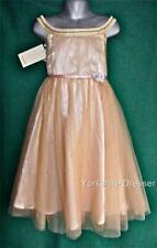 New MONSOON Age 4 + 7 Apricot Gold Tulle CLAUDETTE Sequin Party Bridesmaid Dress