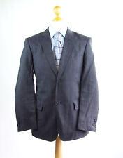Rocha John Rocha Mens Blue Suit Jacket 38 Regular Linen Striped