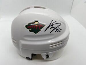 Kirill Kaprizov Autographed Minnesota Wild Mini Helmet ! Fanatics
