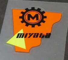 Miyata Head Badge Decal - Orange (sku Miya716)