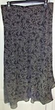 LANE BRYANT Assymetrical SKIRT -Size 18/20 Black White Lined Elastic Lightweight