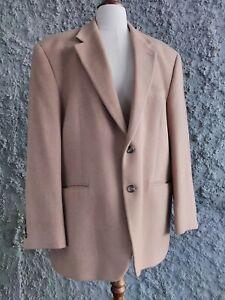 Chaps Ralph Lauren Mens Jacket Size 44R Tan Wool Silk Cashmere