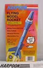 Estes Harpoon Rocket Display Card With Instruction Sheet Parts