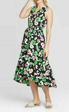 Women's Who What Wear Floral Print Sleeveless V-Neck Long Dress Small, NEW, 1020