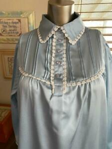 Cabernet Petites Blue Long Sleeve Nightgown Size PS NWOT # 071611