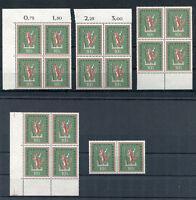 Bund 286 Eckrand VB FN oder Viererblock postfrisch BRD 1957 Volkslieder MNH