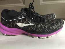 Brooks Womens Launch 5 Black/Purple/Print Running Shoes Size 8.5