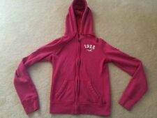 HOLLISTER Girls small 8/10 Pink zip up hoody sweat jacket long sleeves