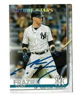 New York Yankees CLINT FRAZIER  Signed 2019 Topps Card #412