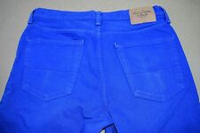 Abercrombie & Fitch 1892 The A&F Skinny 32x34 Royal Blue Button Fly Men's Jeans