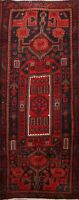 4'x10' Vintage Geometric Tribal Ardebil Runner Rug Hand-knotted Oriental Carpet