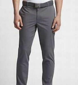 New  846731-021 Nike Modern Cropped Washed Men's Golf Pants Dark Grey/Dark Grey
