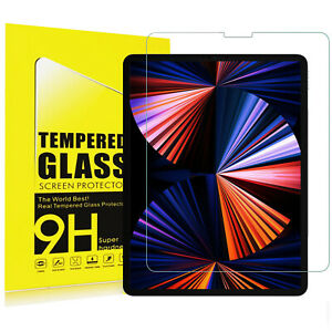 Tempered Glass Screen Protector For iPad Pro 12.9 5th 4th 3rd Gen 2021/2020/2018