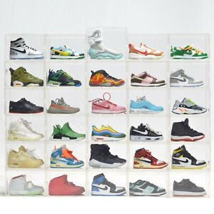 3D Mini Sneakers Collection with Mini Clear Display Case Good For Fingerboard