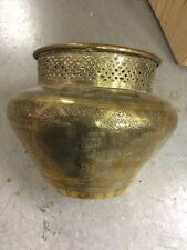 Lrg Antique 1900s Solid Brass Persian/Islamic Bowl Charger Planter,Jardiniere