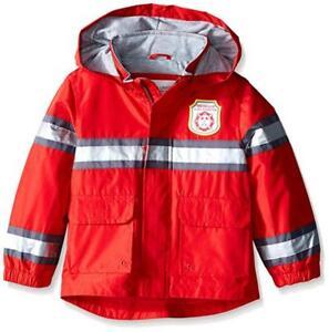 Carter's Boys Red Fireman Rain Slicker Size 2T 3T 4T 4 5/6 7
