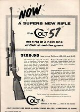 1957 Print Ad Colt 57 Bolt Action Rifles Hartford,CT