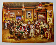 Lee Dubin Hand Signed Limited Edition Art Lithograph WESTERN SALOON