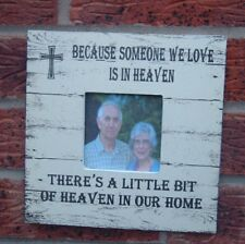 Because someone we love is in heaven photo frame christmas gift remembrance