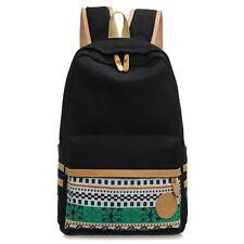 Vintage Ethnic Women Men Canvas Backpack School Shoulder Bookbags For Teens Girl
