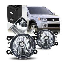 For Suzuki 06-12 Grand Vitara Clear Fog Lights Bumper Light Left Right w/Bulbs