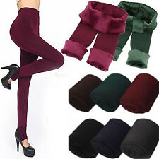 Hot Women Winter Thick Warm Stretchy Slim Skinny Cashmer Lined Leggings Pants