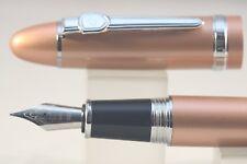 Jinhao No. 159 Golden Rose Fine Fountain Pen with Chrome Plated Trim
