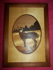 Hudson River Wood Inlay Deer # 41, 6 3/4 X 9 3/4 Great condition by Nelson