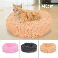 Donut Pet Dog Cat Bed Fluffy Soft Warm Calming Bed Sleeping Kennel Nest Us