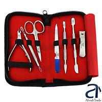 Manicure Pedicure Kit Cuticle Pusher Nipper Cutter Clipper Nail Grooming Scissor