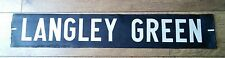 Vintage1972 bus blind section - Langley Green - Sandwell/ West Midlands Gift