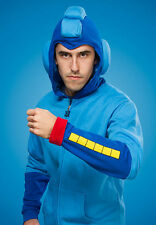 New (LARGE) Mega Man Hoodie Licensed Capcom Hoody Sweater Helmet Costume