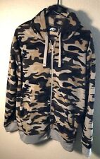Athletech Size Large Green Camo Fleece Long Sleeve Hoodie Hunting