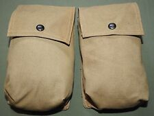 """US Army WW2 PARATROOPER """"OBJECTIVE BURMA"""" MOVIE PROP """"RIGGER MADE"""" AMMO POUCHES"""